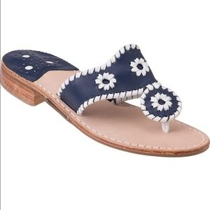 Jack Rogers Whipstitched Palm Beach  Sandals